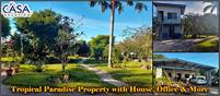 Tropical Paradise Property with House, Office, Storage, Furnishings and 4 Greenhouses near Boquete