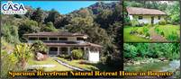 Spacious Riverfront Natural Retreat House Plus Guest House Near Quetzal Trail for Sale in Bajo Mono,