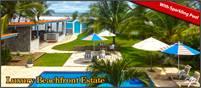 Luxury Beachfront Estate with Sparkling Pool