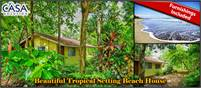 Under 100k – Beautiful Tropical Setting Beach House for Sale in Wonderful Las Lajas, Chiriqui,