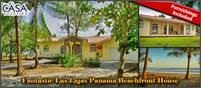 Fantastic Las Lajas Panama Beachfront House for Sale – Furnishings Included –