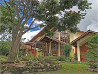 Wonderful View House with Spectacular Garden in Popular Santa Lucia, Boquete, Panama