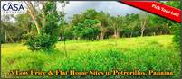 Low Price, Lovely & Flat Home Sites for Sale in Potrerillos Arriba, Panama – Choose Your Lot