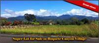 Super Lot for Sale in Boquete Canyon Village