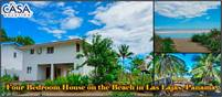 Four Bedroom House on the Beach with Private Beachfront Access in Amazing Las Lajas, Panama