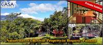 Nature Lover's Retreat Property in Private Setting Yet Close to Town in Jaramillo, Boquete, Panama
