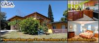 Spacious Home plus Two Guesthouses for Sale in Tropical Paradise, Furnished, Rental Income Potential