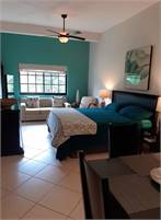 Studio Condo with King bed, kitchenette, bathroom, living & dining for rent short term