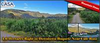 1.6 Hectares Right in Downtown Boquete Near Cafe Ruiz – Mountain Views – A Great Opportunity
