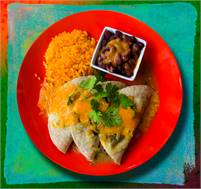Folded enchilada plate at Sugar & Spice, Boquete