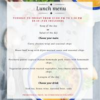 Tuesday - Friday lunch specials at Colibri