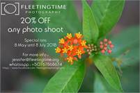 20% Off any photoshoot with Fleeting Time Photography