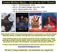 Sunday Movies in July
