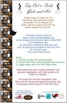 Save the Date! Top Cat and Tails, a fundraiser dinner at Boulder 54