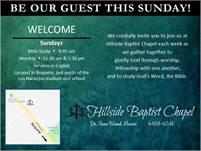 Hillside Baptist Church Services