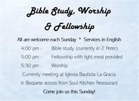 Bible Study, Worship & Fellowship in English