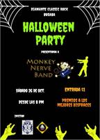 Halloween Party with Monkey Nerve at El Diamonte
